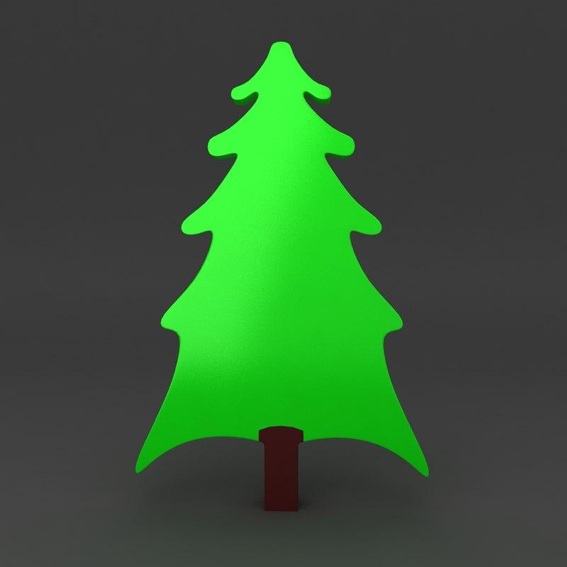 3d cartoon christmas tree model