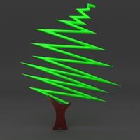 cartoon Christmas tree 11