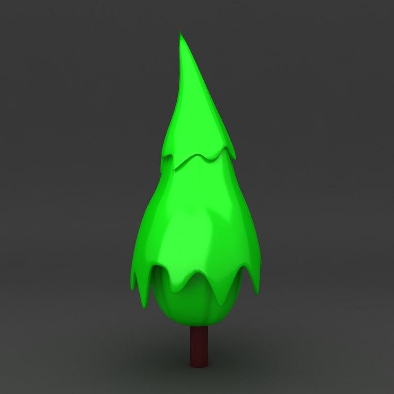 max cartoon tree
