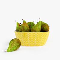 orla kiely bowl pears 3ds