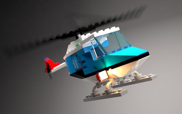3d lego helicopter