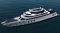 modern yacht 3d model