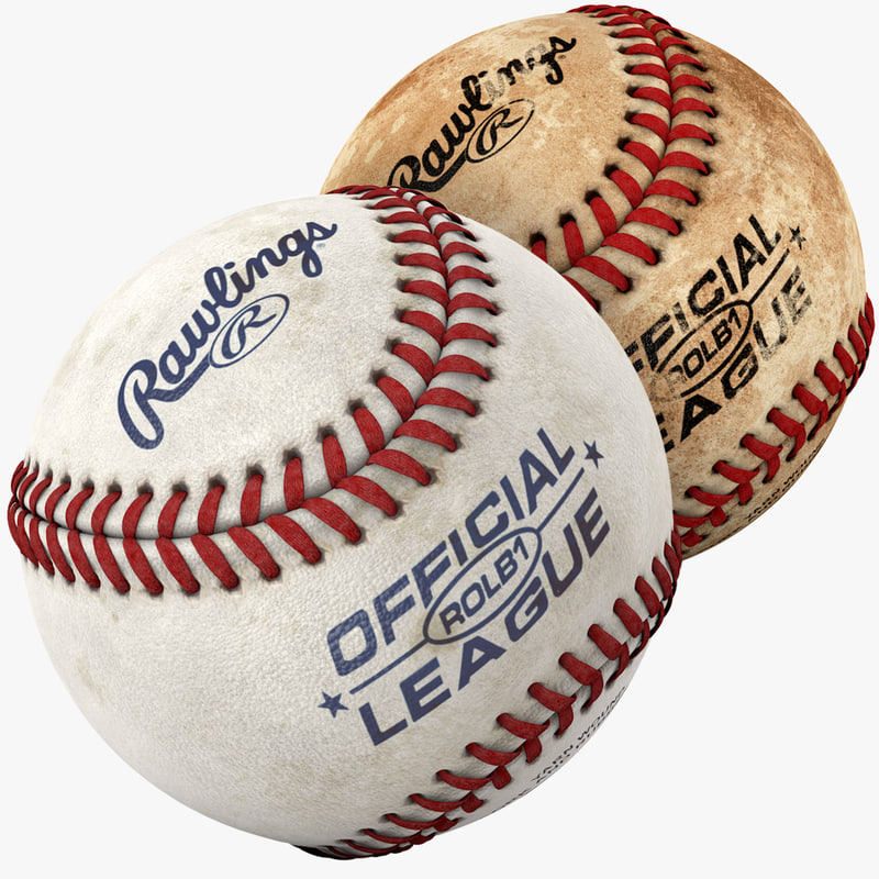 3d model of modeled baseball pack ball