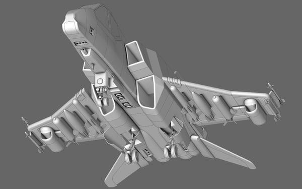 starfighter polygonal hybrid 3d model
