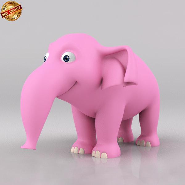 maya cartoon baby elephant