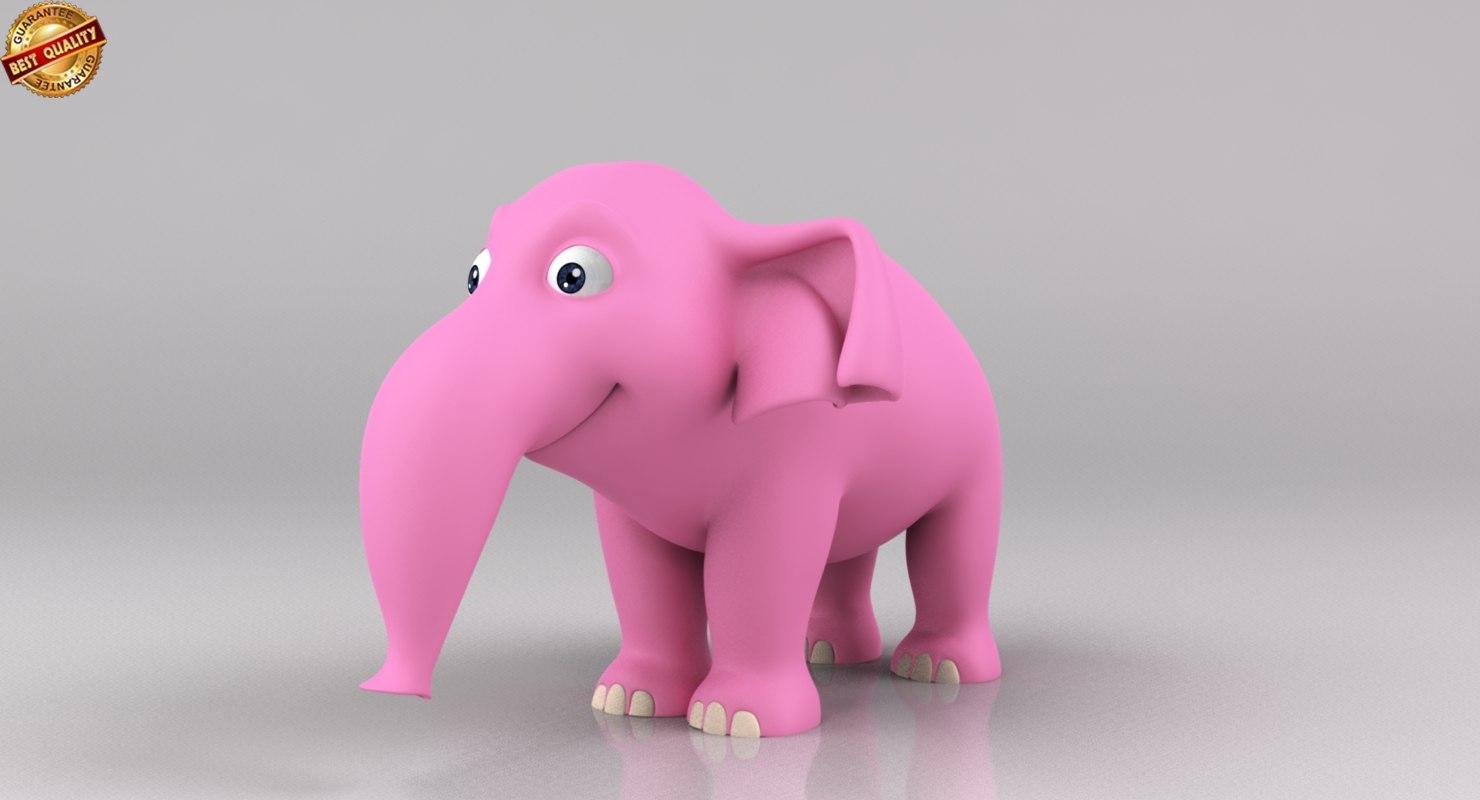 cartoon baby elephant