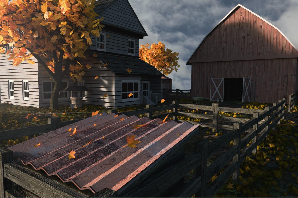 free farm scene 3d model