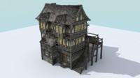 house medieval town 3ds