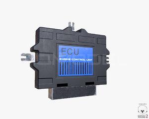 ecu engine control unit 3d obj