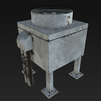 industrial air conditioner pbr 3d max