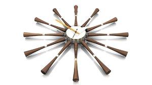 wall clock spindle 3d c4d