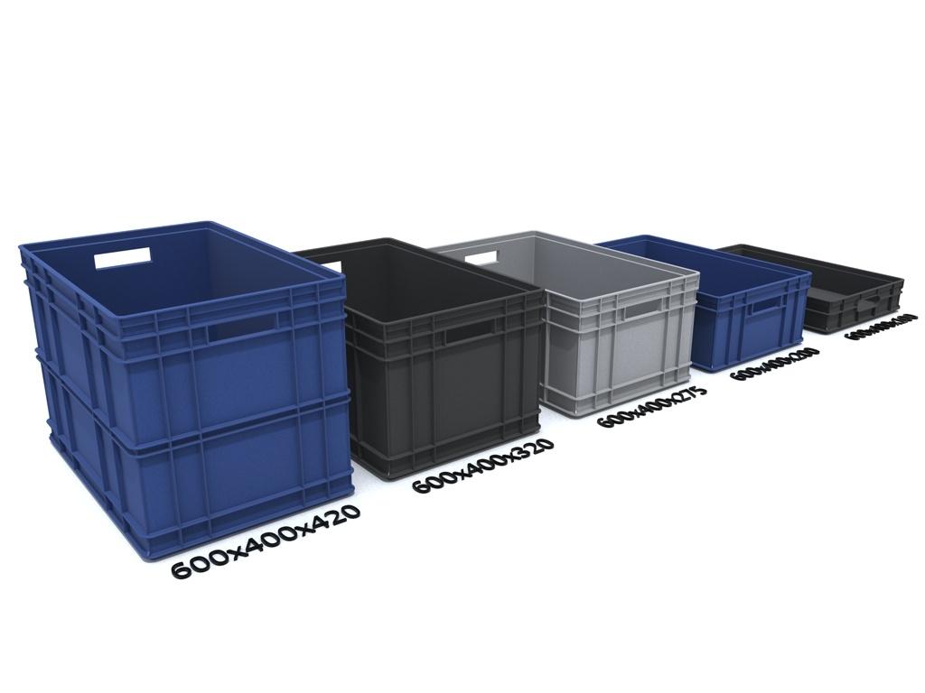 3ds max plastic container crate