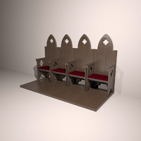 3d church chair