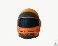 3d model sci-fi helmet 02 pbr