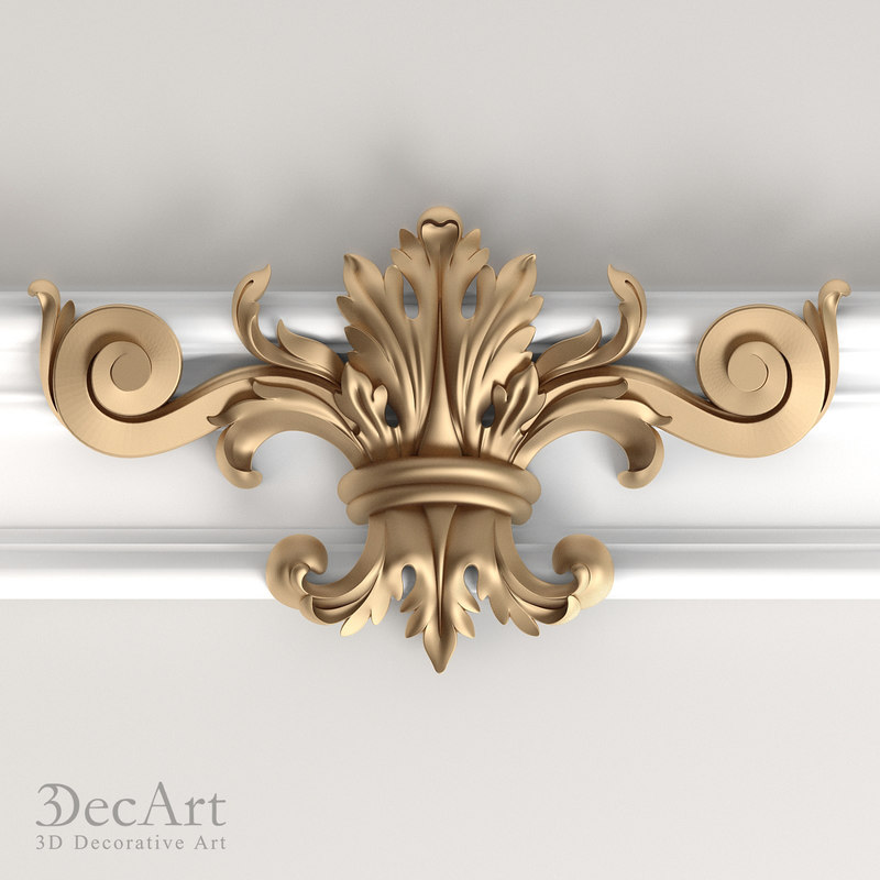 profile decorative nv 3d model