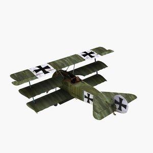 3d model fokker dr1 triplane werner
