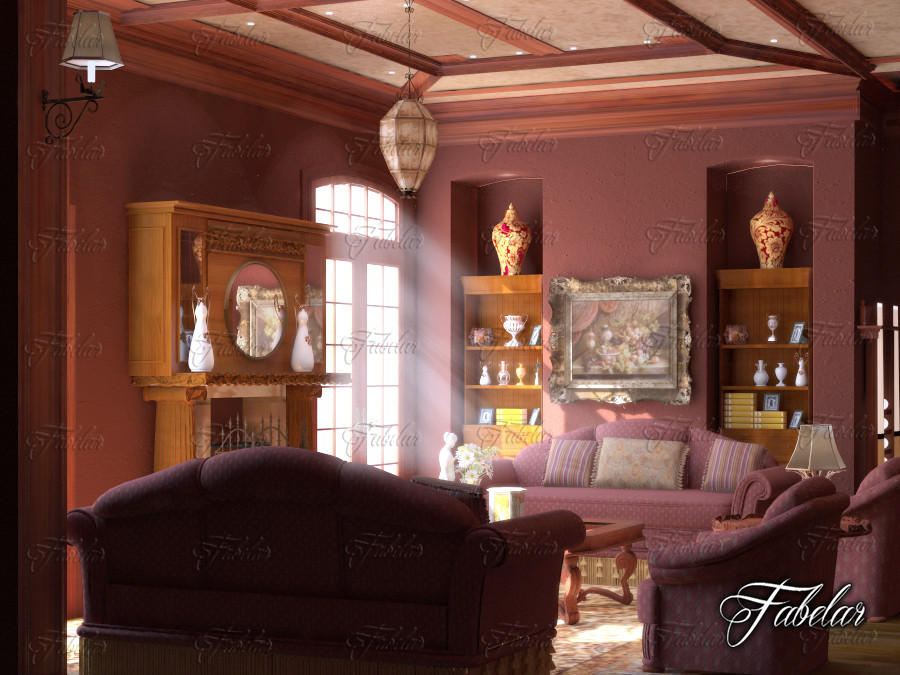living room 3d model