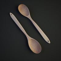 wood spoon 3d max