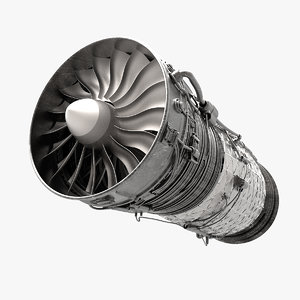 engine aircraft 3d model