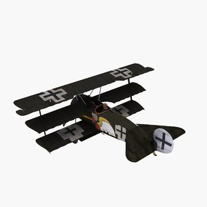 3d josef jacobs triplane aircraft model
