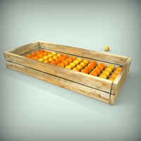 3d model apricots farm juicy
