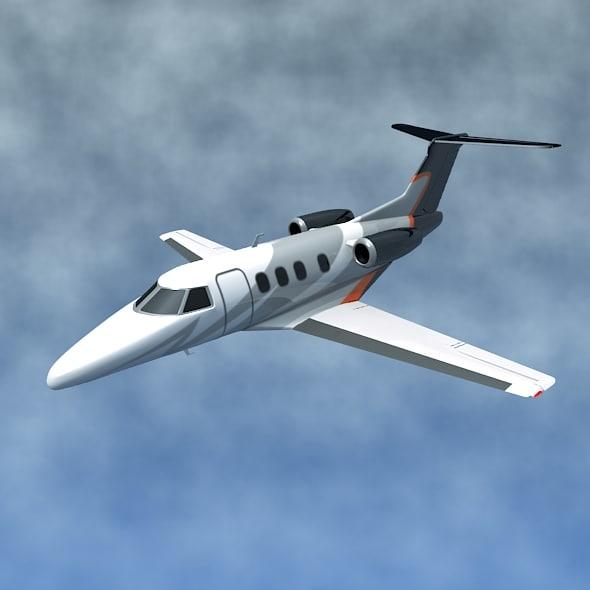 3d jet private embraer model