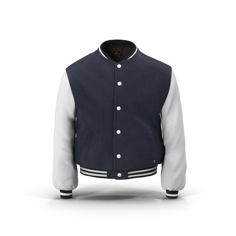 baseball jacket 3d max
