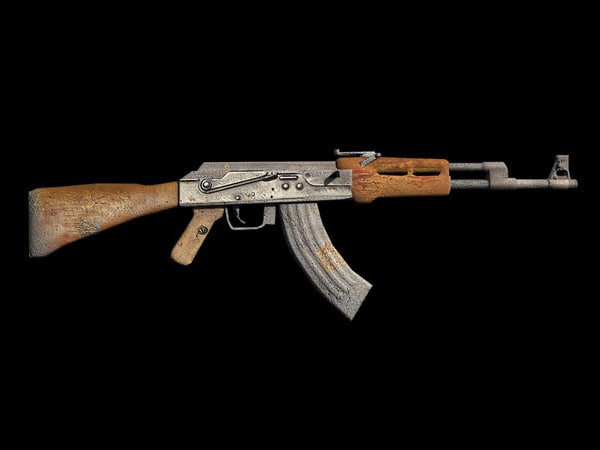 3d 3ds ak-47 rifle