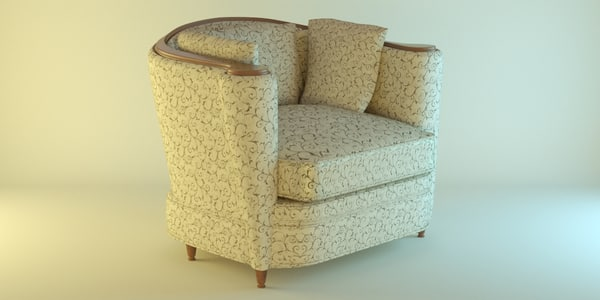 3d model armchair studio