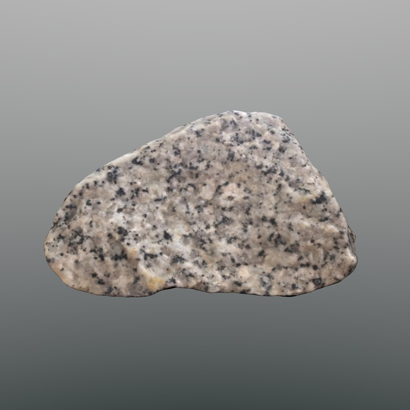 3d scan rock granite model