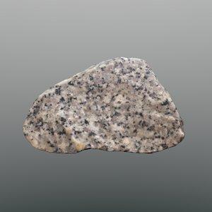 3d scan rock granite model