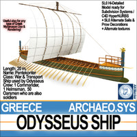 3ds max greek homeric odysseus ship