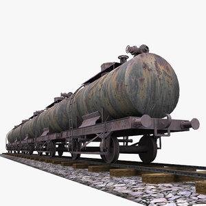 railway tank wagon 3d model