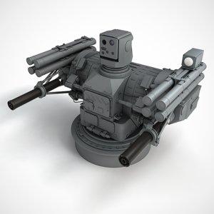 palma air defense gun 3d model