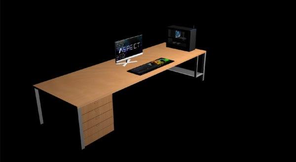 gaming pc 3d model