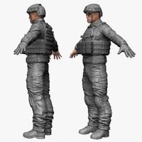 3d 3ds qualitative military male soldier
