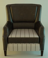 leather armchair 3d obj
