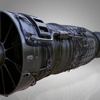 engine jet 3d obj