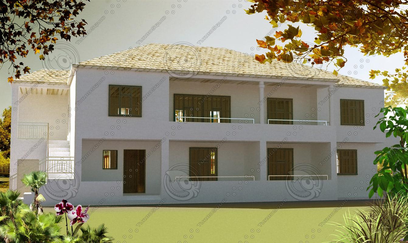 3d model of modern house