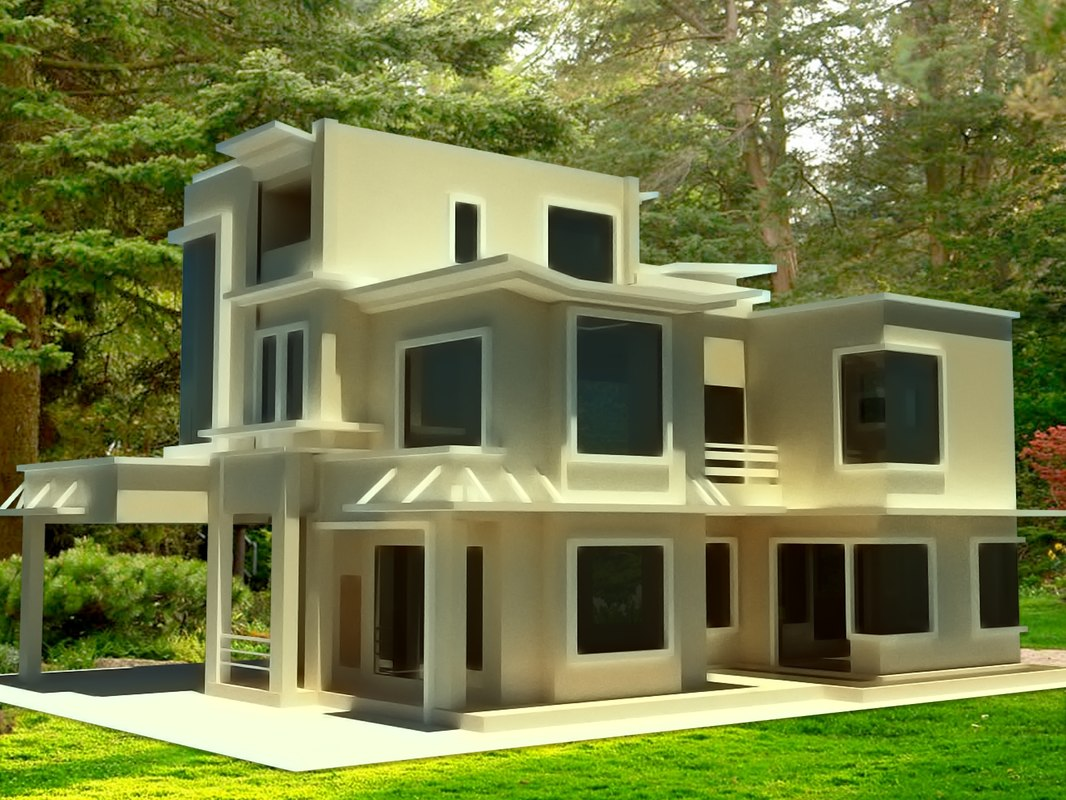 3d model ready building house