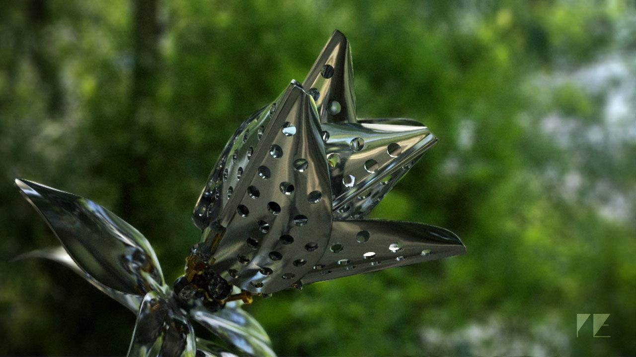 3d mechanical nature model