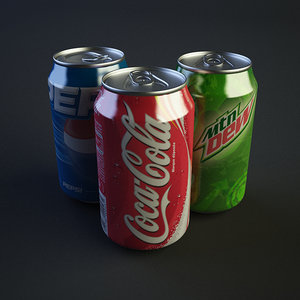 3d drink cans