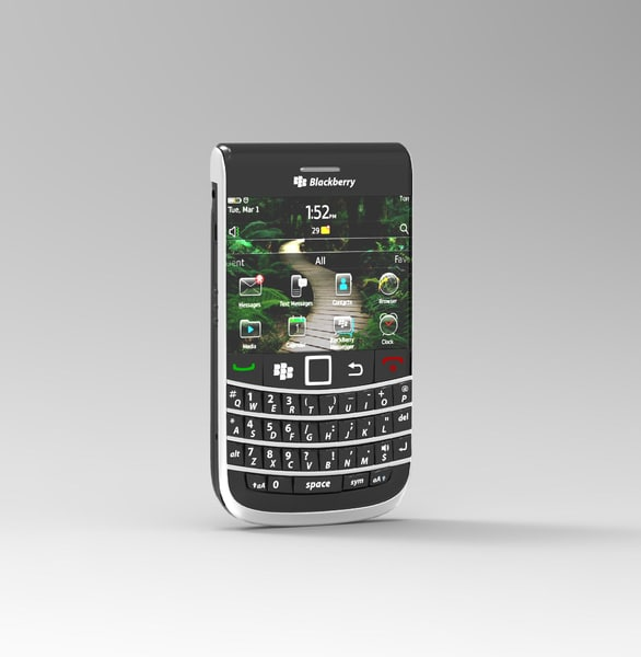 3d blackberry model