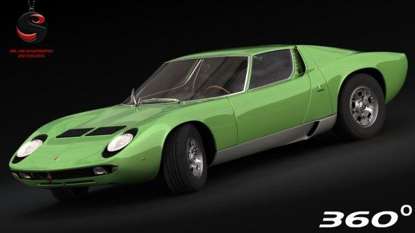 lamborghini miura p400 1967 3d model