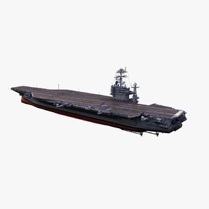3d uss aircraft carrier model