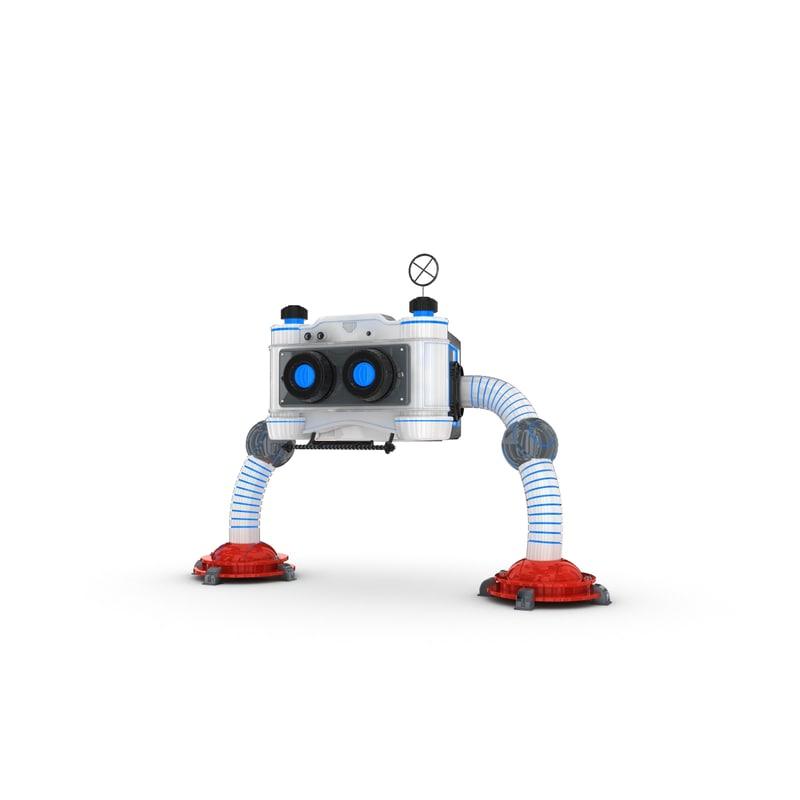 3d model funny robotic character 1