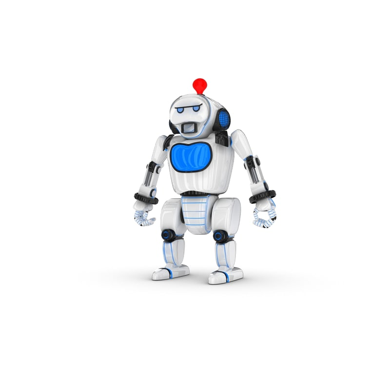 3ds max funny robotic character
