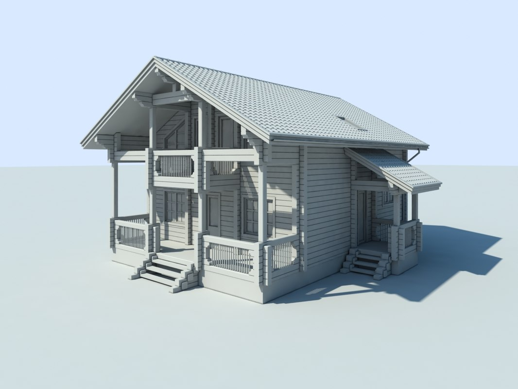 3d 3ds cottage