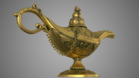 3d model aladdin lamp