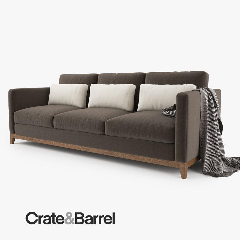 3d crate barrel taraval 3 model